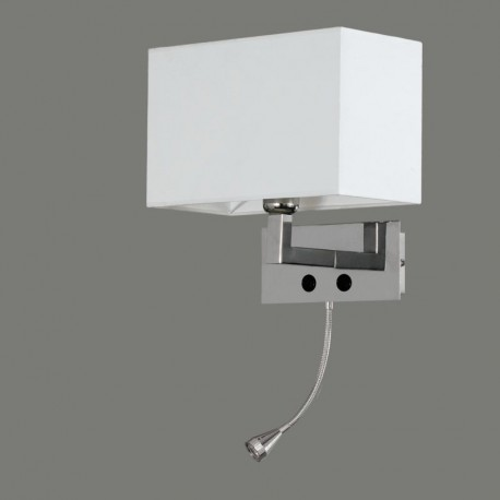 ACB Applique Benet E27+LED Cromato